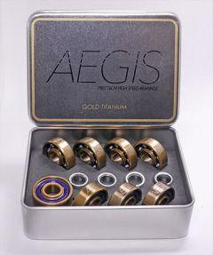 Titanium Gold Bearings with Purple Retainer
