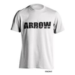 Arrow Shatter Logo Tee White